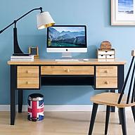 Bàn Làm Việc 5 Ngăn Kéo NB-Blue Gỗ Tự Nhiên Ibie OTDK5NBBR (140 x 60 cm) thumbnail