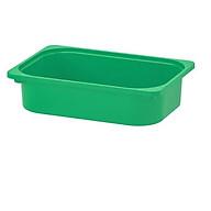 Hộc nhựa màu xanh lá 42x30x10 cm- hộc chứa đồ thumbnail
