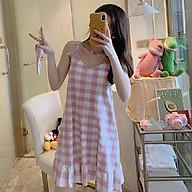 Đầm 2 dây Haint Boutique thiết kế mặc nhà kẻ caro trẻ trung VN03 thumbnail