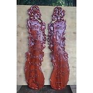 Cặp tranh gỗ quả bầu in câu thơ CHA MẸ gỗ HƯƠNG ĐỎ, GÕ ĐỎ 29cm x 107cm thumbnail