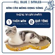 Bàn Cào Móng Dạng Sóng Cho Mèo Lớn - Tặng kèm CatNip - Giúp Mèo Thư Giãn thumbnail