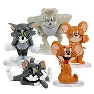 Bộ 5 Mô Hình Trang Trí Tom and Jerry dễ thương thumbnail