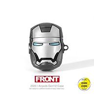 Case Vỏ Bao Đựng Tai Nghe 1 2 Pro Iron Man Bạc Cực Đẹp Chất Liệu Silicon Dẻo thumbnail