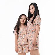 Bộ Pijama Mẹ và bé áo cộc quần đùi thumbnail