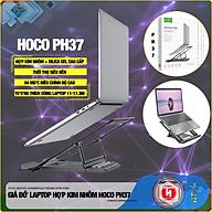 Giá đỡ laptop hợp kim nhôm + silica gel cao cấp có thể gấp gọn.Giúp tản nhiệt laptop, macbook, máy tính xách tay.04 Chế độ điều chỉnh góc độ HT SYS hoco PH37 ALUMINUM alloy FORLDING laptop STAND [ Hàng Nhập Khẩu ] thumbnail