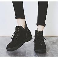 Boot Nữ Boot Nữ Da Lộn Cột Dây Cá Tính Phong Cách Châu Âu B70 - Mery Shoes thumbnail
