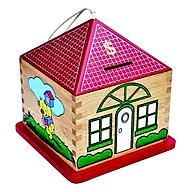 Đồ Chơi Gỗ Colligo - Nhà tiết kiệm hình vuông (đỏ) 71122 thumbnail