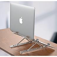 Đế nhôm cao cấp hỗ trợ tản nhiệt cho Laptop, Macbook gồm 7 mức điều chỉnh độ nghiêng tùy ý (có thể gập gọn thông minh) thumbnail