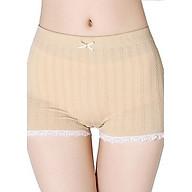 Quần đùi mặc váy cotton dệt gân cao cấp co giãn 4 chiều thoáng mát , thấm hút mồ hôi thumbnail