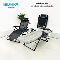 Ghế xếp ngã giường SUMIKA 168, 168A - tải trọng 300kg, có thêm con lăn massage tay cho mẫu 2020 thumbnail