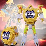 Đồng hồ biến hình robot siêu nhân cho bé gái 5552 màu vàng thumbnail