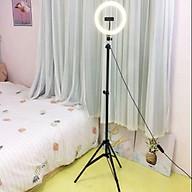 Đèn Led 26cm hỗ trợ ánh sáng livestream bán hàng online ( kèm cả chân và kẹp điện thoại ) thumbnail