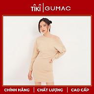 Đầm tay dơi bẹt vai GUMAC DA1291 thumbnail