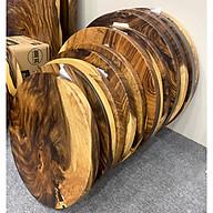 Mặt bàn tròn gỗ me tây nguyên tấm cho quán cafe thumbnail