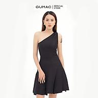 Đầm dáng xòe nữ thiết kế lệch vai kết hợp xếp ly GUMAC DB512 thumbnail