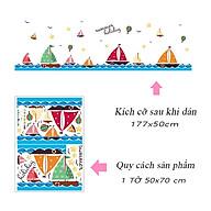 Decal dán tường trang trí lớp mầm non, phòng cho bé- chân tường thuyền buồm- mã sp DXL7176 thumbnail