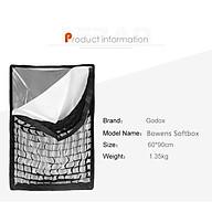 Softbox tổ ong GODOX 60x90 cm - Hàng chính hãng thumbnail