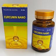 Thực phẩm bảo vệ sức khỏe Curcumin Nano - Cong nghệ nano giúp hoạt chất Curcumin thấm sâu- Giảm viêm dạ dày, tá tràng, giảm tác hại của hóa trị, xạ trị, Hộp 30 viên nang mềm. thumbnail