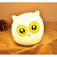 Đèn ngủ cảm ứng cho bé yêu đổi màu con cú mèo ngộ nghĩnh ( Tặng kèm 03 móc dán 3D chịu lực ngẫu nhiên ) thumbnail