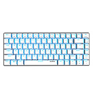 Ajazz AK33 82 Keys USB Wired Mechanical Keyboard Monochromatic Backlight Gaming Keyboard White with Blue Switches thumbnail