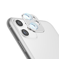 Bộ miếng dán kính cường lực & khung viền bảo vệ Camera cho iPhone 11 (6.1 inch) hiệu Totu (độ cứng 9H, chống trầy, chống chụi & vân tay, bảo vệ toàn diện) - Hàng nhập khẩu thumbnail