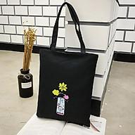 Túi Tote vải Canvas YOLA SHOP, Tui Vải Bố Ulzzang HQ Thời Trang, Xinh Xắn Đi Học Đi Chơi TUIV.001 thumbnail