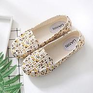 Giày nhựa đi mưa, đi biển họa tiết hoa vàng - Chất liệu siêu nhẹ thumbnail