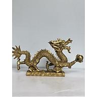 Tượng rồng nhả ngọc bằng đồng đúc nguyên chất thumbnail
