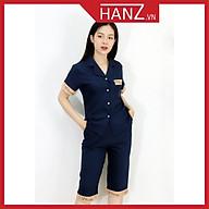 Bộ pijama lụa áo cộc quần lửng bộ ngủ cao cấp mềm mại thoải mái dễ thương giá rẻ H28 XANH THAN thumbnail