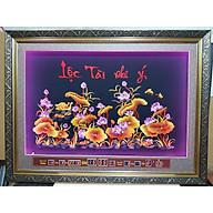 Tranh thêu sen vàng gắn đèn led + lịch vạn niên -2079 thumbnail