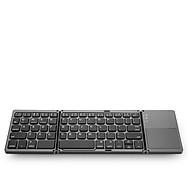 Bàn Phím Không Dây Mini Gấp Gọn Bluetooth Tích Hợp chuột Touchpad B033 thumbnail