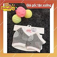 Tất bảo vệ đầu gối em bé có gai chống trượt ( 1 đôi) 9536, chất liệu cotton 100% thumbnail