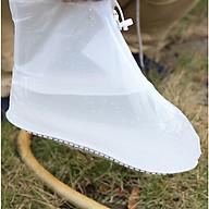 Túi bọc giày trong suốt, chống thấm nước khi đi mưa, có khóa kéo tiện lợi thumbnail