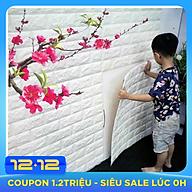 Bộ 5 Miếng Xốp Dán Tường 3D Chịu lực, chống nước, chống ẩm mốc 70x77cm thumbnail