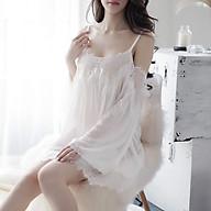 Váy Ngủ Ren Trễ Vai Sexy Kèm Quần Lót thumbnail