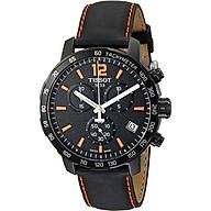 Tissot Men s T0954173605700 Quickster Chronograph Analog-Display Swiss Quartz Black Watch thumbnail