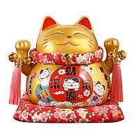 Mèo thần tài vàng Buôn May Bán Đắt - 21cm thumbnail