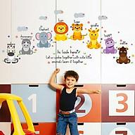 Decal dán tường từ vựng tiếng anh về loài vật cho bé SK7053 thumbnail