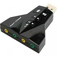 Usb sound 7.1 hỗ trợ 2 cổng âm thanh và 2 cổng audio Chính Hãng thumbnail