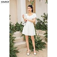 Đầm Váy Nữ Công Sở 92WEAR Thiết Kế Xòe Chàn Chỉ Trang Trí DEW1906 thumbnail