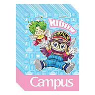 Lốc 10 Cuốn Vở 4 Ô Ly (2,5X2,5Mm) Campus Arale&amp Gacchan NB-BARG80 - ĐL 100 (80 Trang) - Giao Mẫu Ngẫu Nhiên thumbnail