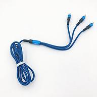 Dây Cáp Dù Sạc Điện Thoại 3 Đầu Lightning Micro USB Type C Meia - Hàng Chính Hãng thumbnail
