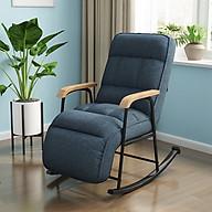 Ghế thư giãn bập bênh cao cấp - Ghế bập bênh ngả lưng thư giãn - Ghế sofa thư giãn phòng khách,phòng ngủ - Ghế văn phòng - Ghế ngủ trưa - Giao màu ngẫu nhiên thumbnail