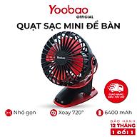 Quạt sạc mini để bàn YOOBAO F04 6400mAh Xoay 720 độ Chạy 32 giờ liên tục - Bảo hành 12 tháng 1 đổi 1 thumbnail