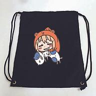Balo dây rút đen in hình CÔ EM GÁI HAI MẶT anime chibi Himouto Umaru-chan túi rút đi học xinh xắn thời trang thumbnail