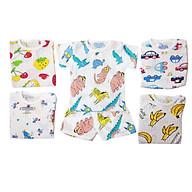 Combo 5 áo cotton giấy cúc vai cho bé thumbnail