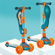 Xe trượt scooter 3 bánh cao cấp dành cho bé, phát nhạc, bánh xe phát sáng vĩnh cửu, rèn luyện vận động, tăng chiều cao cho bé, chịu lực lên tới 90kg thumbnail