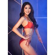 BIKINI PASSPORT - Bikini lưng thấp cột dây hai bên - Cam - BS361_OR thumbnail