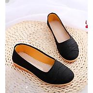Giày búp bê vải caro đế bằng 2cm đi bộ cực êm chân V189 thumbnail