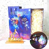 Quà 20 10 Cho Người Yêu (Phiên Bản Giới Hạn) MUMUSO - Hoa Hồng Galaxy Đế Chữ Love Có Đèn Led Phát Sáng thumbnail